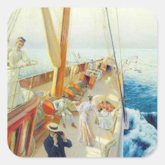 Julius Stewart- Yachting in the Mediterranean Sticker