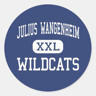 Julius Wangenheim Wildcats Middle San Diego Round Stickers