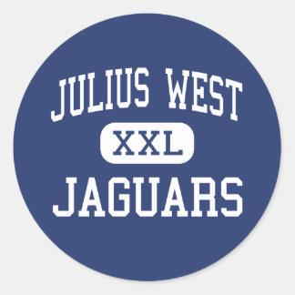 Julius West Jaguars Middle Rockville Round Sticker