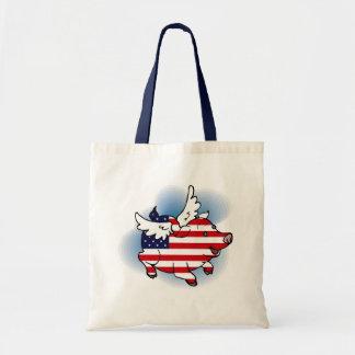 July 4 - 4th of July Patriotic Flying Pig(s) Tote Bag