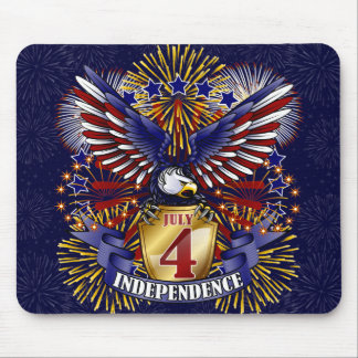 July 4 Independence Mousepad