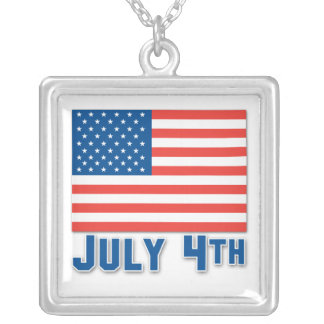 July 4th American Flag Pendant