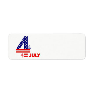 July 4th American Flag text