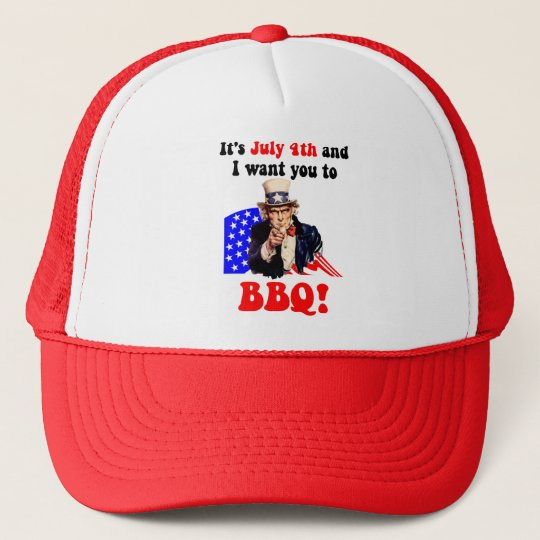 July 4th barbecue cap