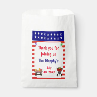 July 4th Barbecue Favor Bags Favour Bags