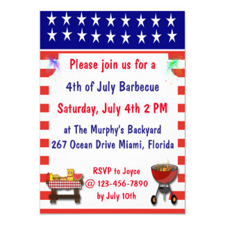 July 4th Barbecue Invitations