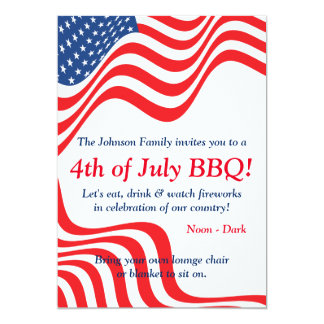 July 4th BBQ Celebration Card
