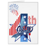 JULY 4th BIRTHDAY by SHARON SHARPE Greeting Card