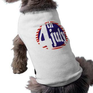 July 4th Birthday Celebration Sleeveless Dog Shirt