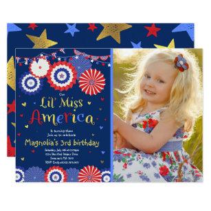 July 4th Birthday Invitation Fourth Of Party
