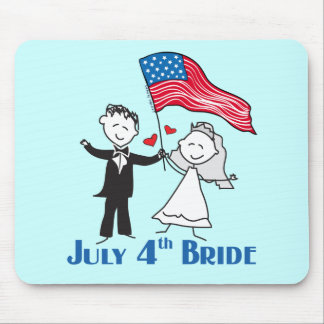 July 4th Bride Gifts Mouse Pad