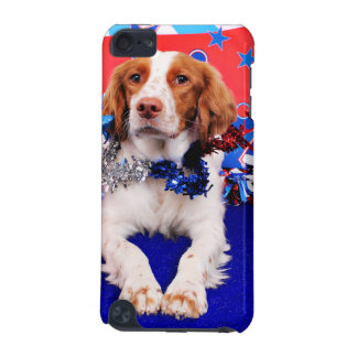 July 4th - Brittany Spaniel - Charlie iPod Touch (5th Generation) Covers