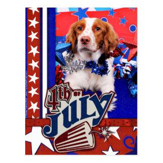 July 4th - Brittany Spaniel - Charlie Postcard