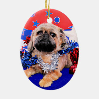 July 4th - Brussels Griffon - Oliver Christmas Ornament