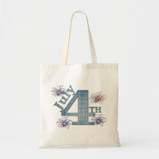 July 4th budget tote bag