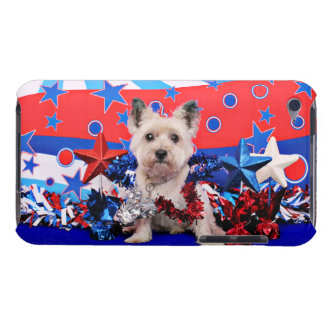 July 4th - Cairn Terrier - Roxy Barely There iPod Covers