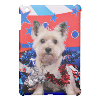 July 4th - Cairn Terrier - Roxy iPad Mini Covers