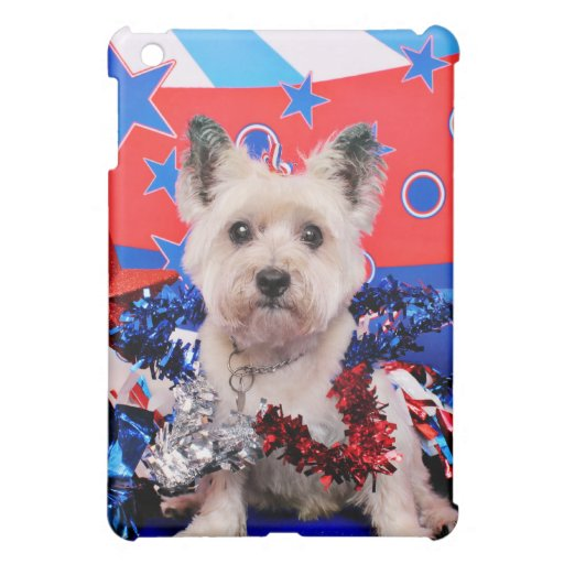 July 4th - Cairn Terrier - Roxy iPad Mini Covers