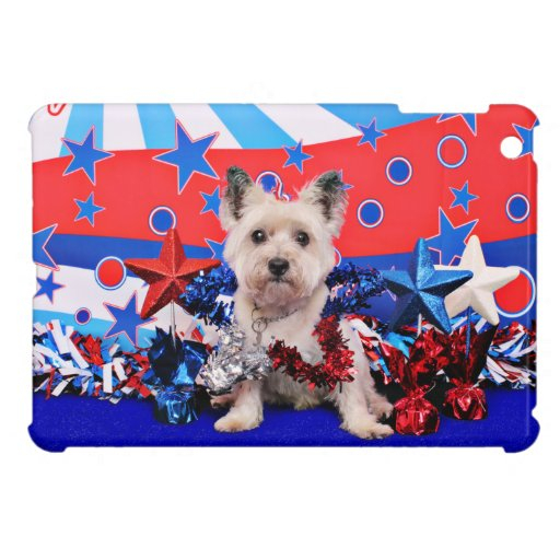 July 4th - Cairn Terrier - Roxy Case For The iPad Mini