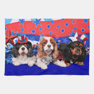 July 4th - Cavaliers - Rosie Poppy SweetPea Tea Towel