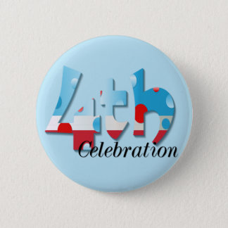 July 4th Celebration Button