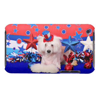July 4th - Chinese Crested - Dash iPod Touch Cases