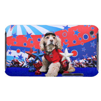 July 4th - Cocker Spaniel - Dutchie Sue Barely There iPod Cases