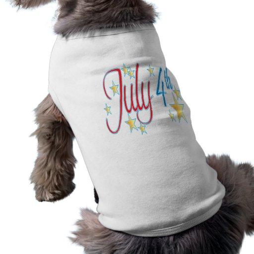 July 4th doggie shirt