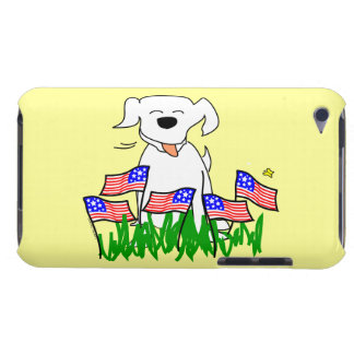 July 4th Dog with Flags iPod Touch Case-Mate Case