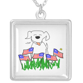 July 4th Dog with Flags Jewelry