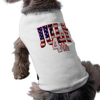 July 4th doggie tee