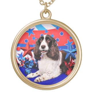July 4th - English Springer Spaniel - Chloe Custom Necklace