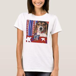 July 4th Firecracker - Beagle Puppy T-Shirt