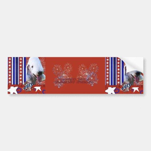July 4th Firecracker - Bedlington Terrier Bumper Sticker