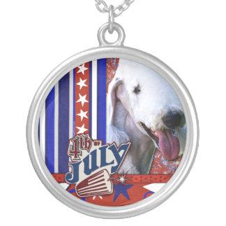 July 4th Firecracker - Bedlington Terrier Necklaces