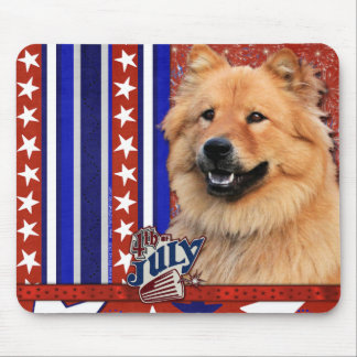 July 4th Firecracker - Chow Chow - Cinny Mouse Mat