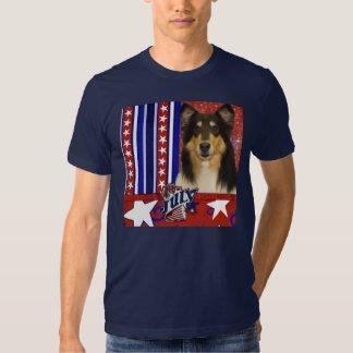 July 4th Firecracker - Collie - Caroline T Shirts