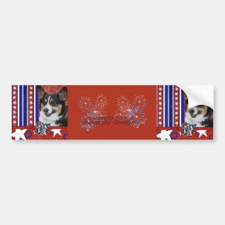 July 4th Firecracker - Corgi Bumper Sticker