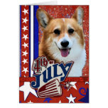 July 4th Firecracker - Corgi Greeting Card