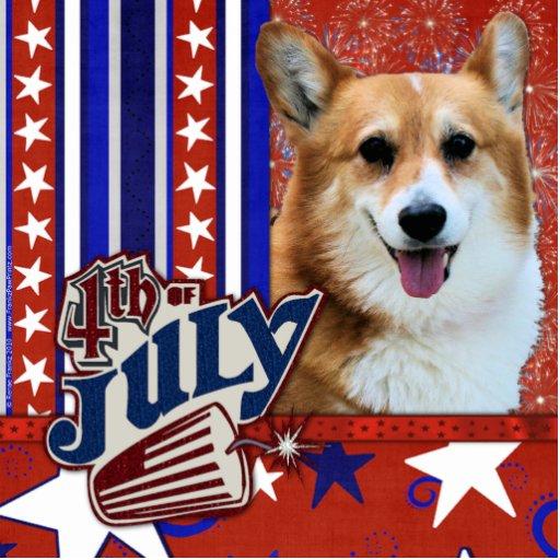 July 4th Firecracker - Corgi - Owen Acrylic Cut Outs