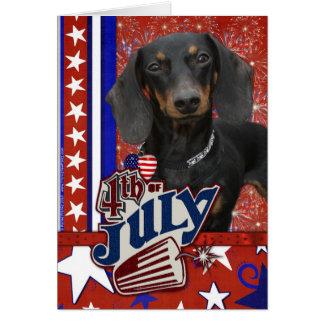 July 4th Firecracker - Dachshund Card