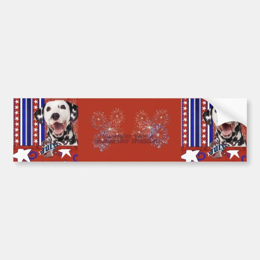 July 4th Firecracker - Dalmatian Bumper Stickers