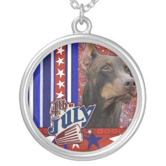 July 4th Firecracker - Doberman - Red - Rocky Jewelry