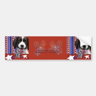 July 4th Firecracker - English Springer Spaniel Bumper Sticker