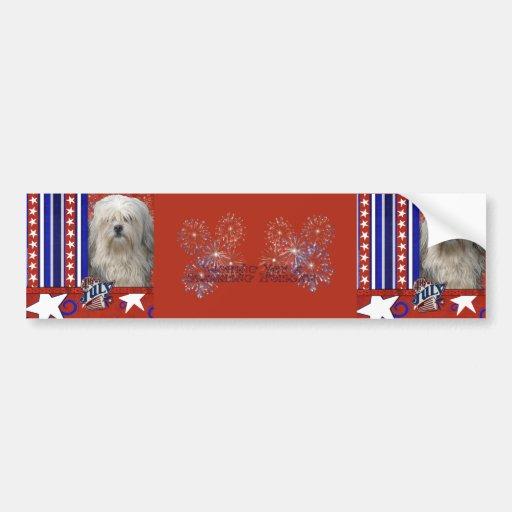 July 4th Firecracker - Lowchen Bumper Stickers