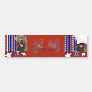 July 4th Firecracker - Mastiff - Snoop Bumper Sticker