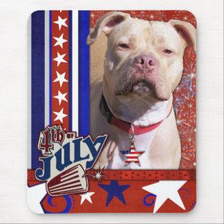 July 4th Firecracker - Pitbull - Jersey Girl Mousepad