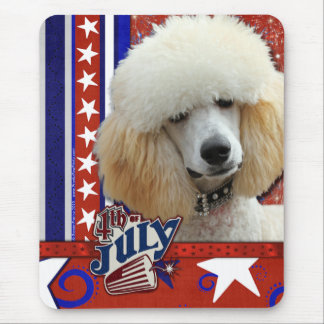 July 4th Firecracker - Poodle - Apricot Mouse Mat