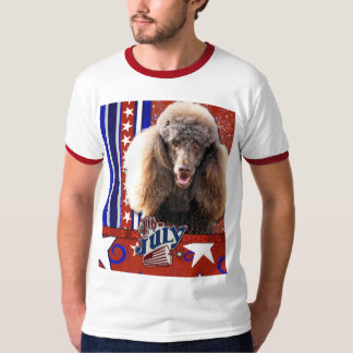 July 4th Firecracker - Poodle - Chocolate Tee Shirt