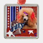 July 4th Firecracker - Poodle - Red